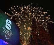 """Церемония закрытия X зимних Паралимпийских игр в Ванкувере. Фото AFP Фото """"СЭ"""""""