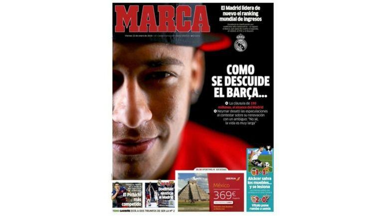 """Marca все знает о """"Реале"""". И о сумме отступных в контракте Неймара с """"Барселоной""""."""