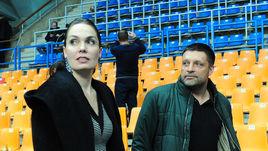 Игорь Черевченко с супругой болеет за женское