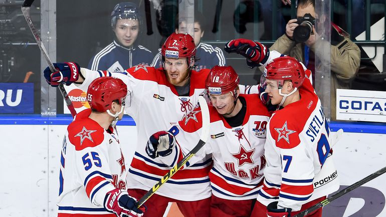 ЦСКА все ближе ко второй подряд победе в регулярном чемпионате. Фото photo.khl.ru
