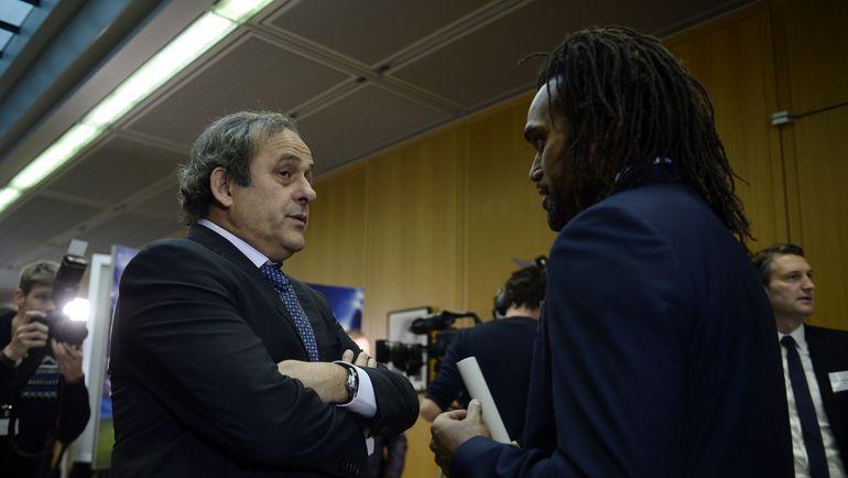 Мишель ПЛАТИНИ и Кристиан КАРАМБЕ. Фото AFP