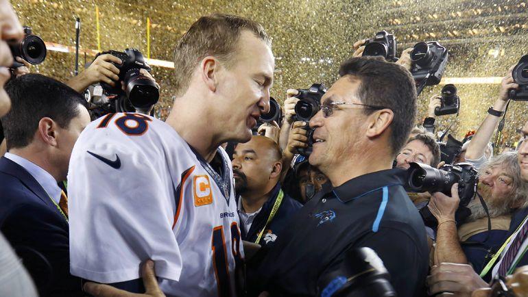 """Воскресенье. Санта Клара. Супербоул. """"Денвер"""" третий раз в своей истории победил в Супербоуле. Фото REUTERS"""