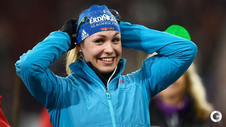 Магдалена НОЙНЕР на прощальной Рождественской гонке. Фото AFP