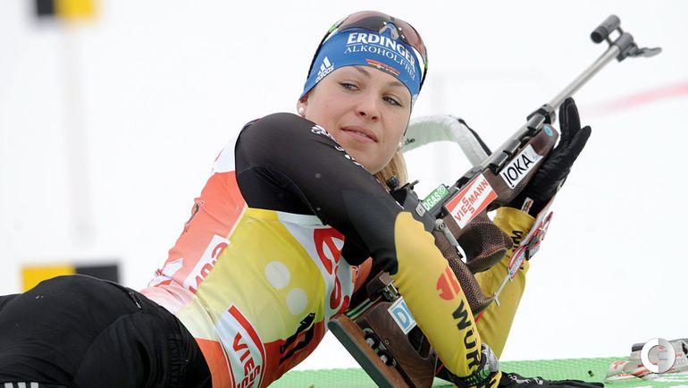 Магдалена НОЙНЕР на дистанции биатлонной гонки. Фото REUTERS