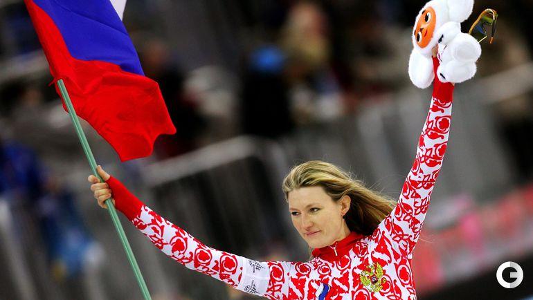 14 февраля 2006 года. Турин. Светлана ЖУРОВА - олимпийская чемпионка на дистанции 500 м. Фото REUTERS