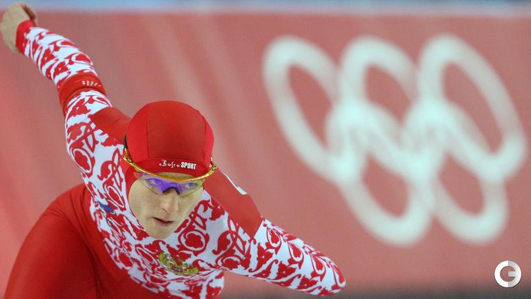 14 февраля 2006 года. Турин. Светлана ЖУРОВА - олимпийская чемпионка на дистанции 500 м. Фото AFP