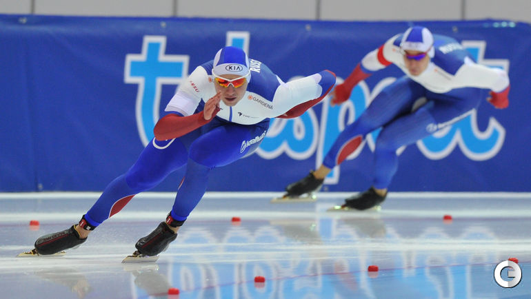 """Воскресенье. Коломна. ЧМ. Дистанция 500 метров у мужчин. Фото Александр ФЕДОРОВ, """"СЭ"""""""