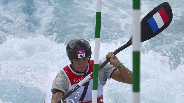 Эмилия ФЕР на олимпийской трассе гребного слалома. Фото AFP