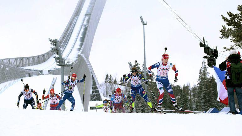 Смешанная эстафета на чемпионате мира в Холменколлене. Фото REUTERS
