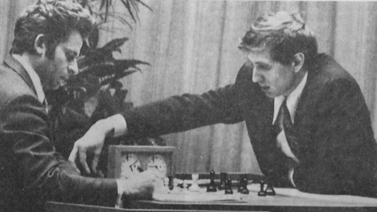 1972 год. Рейкьявик. Матч за звание чемпиона мира. Борис СПАССКИЙ и Бобби ФИШЕР.