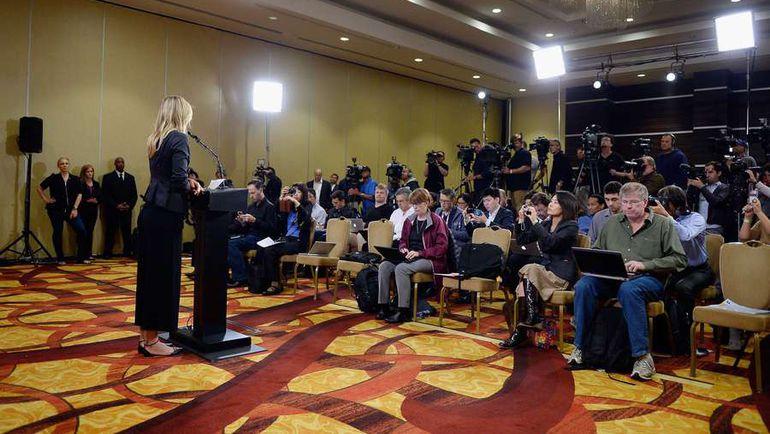 Вчера. Лос-Анджелес. Пресс-конференция Марии ШАРАПОВОЙ. Фото AFP