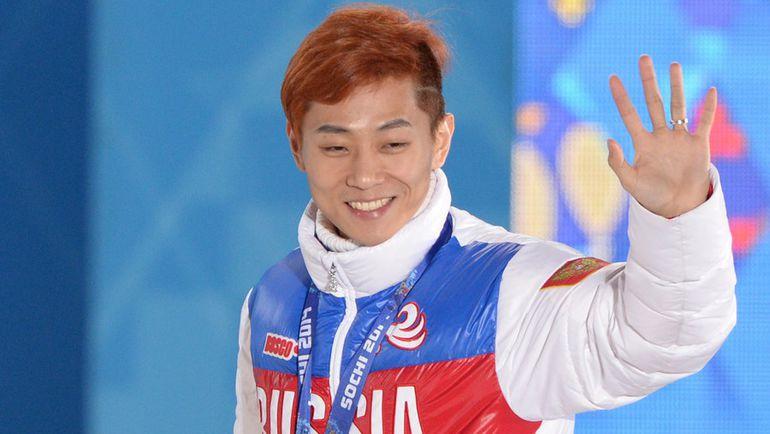 Виктор АН с золотой медалью Олимпийских игр в Сочи. Фото AFP