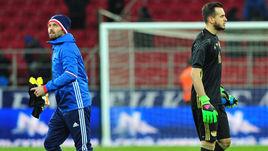 Суббота. Москва. Тушино. Россия - Литва - 3:0. ГИЛЬЕРМЕ (справа) и Юрий ЛОДЫГИН.