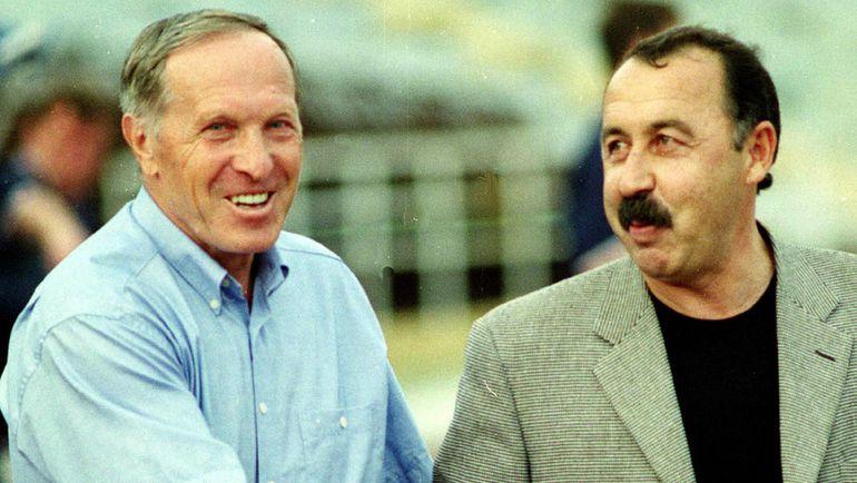 2002 год. Владимир САЛЬКОВ и Валерий ГАЗЗАЕВ. Фото Андрей МИРЕЙКО