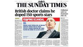 Передовица Sunday Times.
