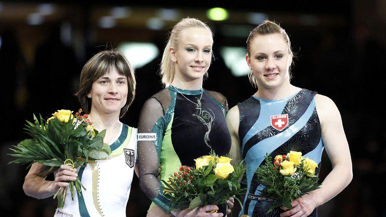 Оксана ЧУСОВИТИНА (слева) на чемпионате Европы-2011. Спортсменка, выступавшая за Германию, завоевала тогда серебро. Фото REUTERS