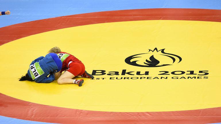 Соревнования по самбо на Европейских играх в Баку. Фото AFP
