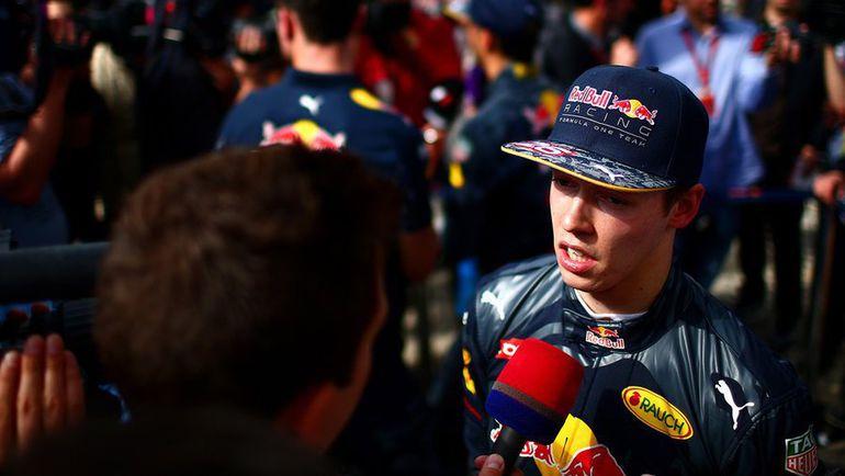 Сегодня. Сочи. Даниил КВЯТ после гонки. Фото twitter.com/redbullracing