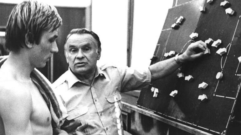 1980-е. Константин БЕСКОВ (справа) и Сергей ШАВЛО. Фото Федор АЛЕКСЕЕВ