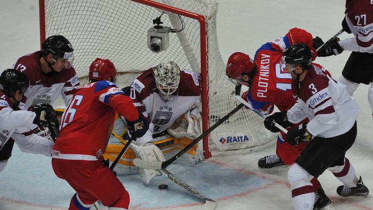 Четыре очка Панарина помогли России разгромить Латвию (Видео)