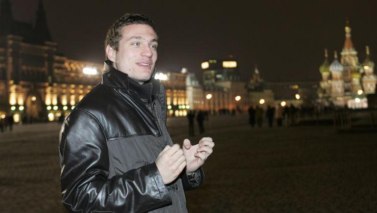 2005 год. Москва. Неманья ВИДИЧ на Красной площади