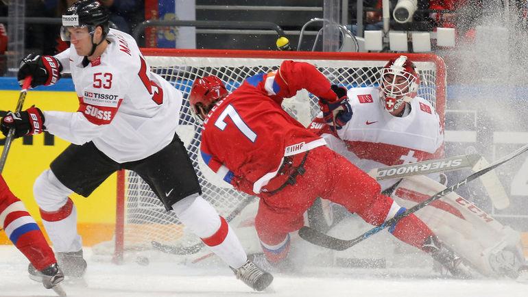Сборная Россия разгромила Швейцарию на ЧМ по хоккею (Видео)
