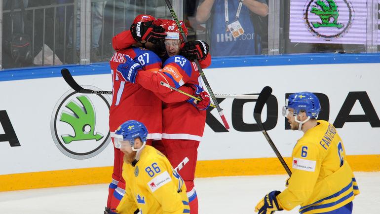 Россия победила Швецию и в 1/4 финала ЧМ-2016 сыграет с Германией (Видео)
