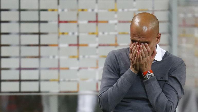 "Вчера. Берлин. ""Бавария"" - ""Боруссия"" Д - 0:0, пен. - 4:3. Эмоции Хосепа ГВАРДЬОЛЫ. Фото REUTERS"