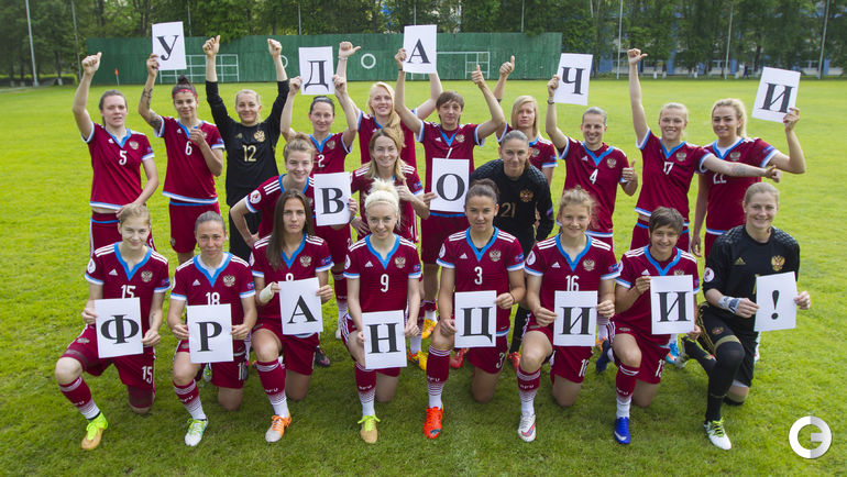 Женская сборная России по футболу пожелала удачи участникам Euro.