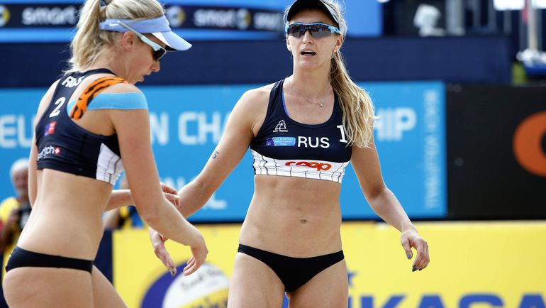 Екатерина БИРЛОВА (№1) и Евгения УКОЛОВА. Фото cev.lu