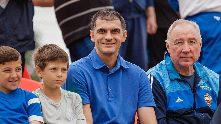 Владимир ГАБУЛОВ и почетный гость турнира - Вячеслав ЧАНОВ.