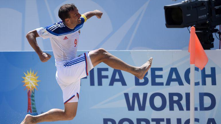 Сегодня. Эшпинью. Россия - Бразилия - 6:5. Радость автора победного гола Егора ШАЙКОВА. Фото AFP