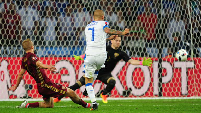 Россия уступила Словакии на Евро-2016