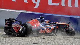 Квят попал в аварию во время квалификации