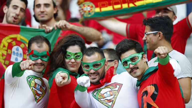 Болельщики сборной Португалии.