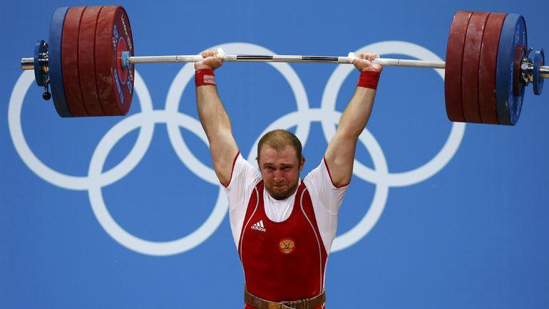 Серебряный призер Олимпийских игр-2012 в Лондоне в весовой категории до 94 кг Александр ИВАНОВ, позже уличенный в употреблении допинга. Фото REUTERS