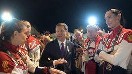 Вчера. Рио-де-Жанейро. Президент ОКР Александр ЖУКОВ на церемонии поднятия флага в Олимпийской деревне.