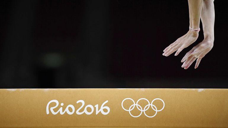 Тренировка гимнастов в Рио. Фото REUTERS