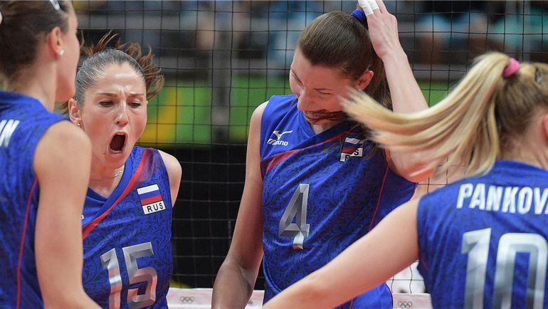 Сегодня. Рио-де-Жанейро. Россия - Аргентина - 3:0. Россиянки празднуют сухую победу. Фото FIVB