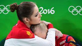 Сегодня. Рио-де-Жанерой. Алия МУСТАФИНА (слева) и Ангелина МЕЛЬНИКОВА.
