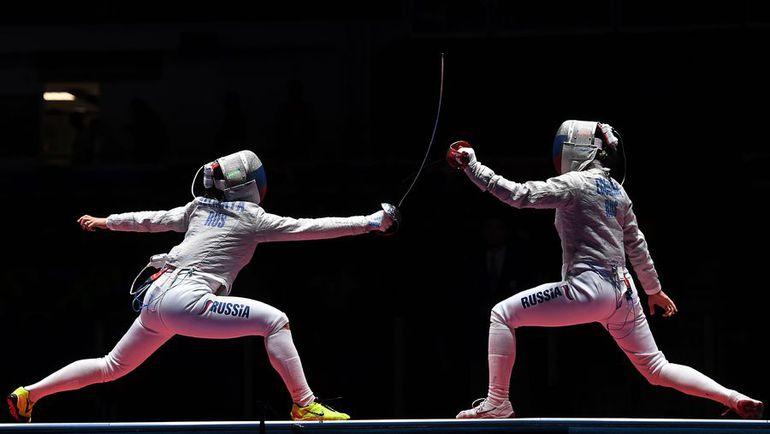 Яна ЕГОРЯН (справа) и Софья ВЕЛИКАЯ. Фото REUTERS