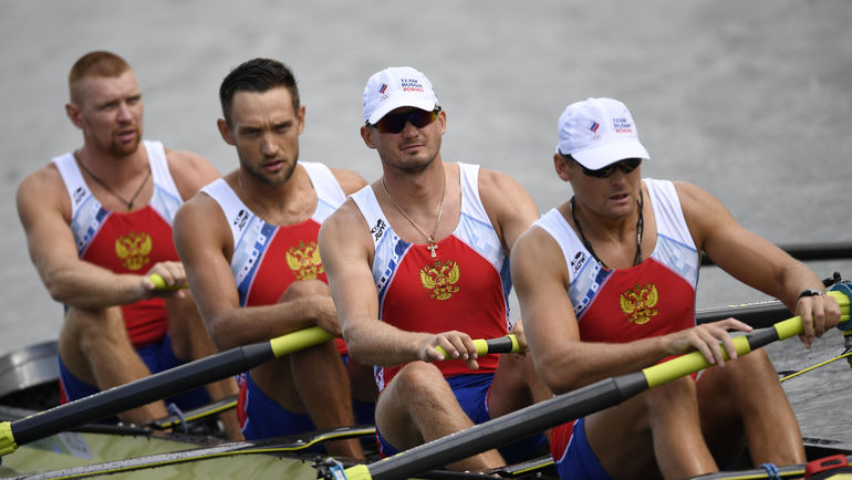 Артем КОСОВ, Антон ЗАРУЦКИЙ, Владислав РЯБЦЕВ и Никита МОРГАЧЕВ (слева направо). Фото AFP