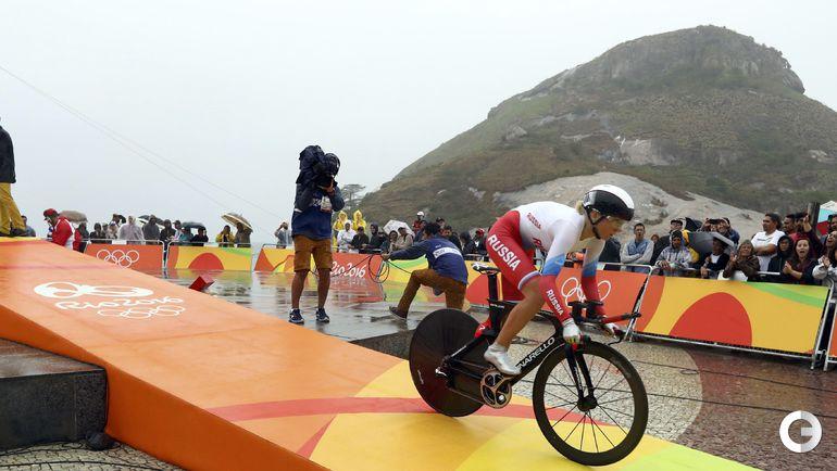 Сегодня. Рио-де-Жанейро. Велошоссе. Женщины. Гонка с раздельным стартом. Ольга ЗАБЕЛИНСКАЯ. Фото REUTERS