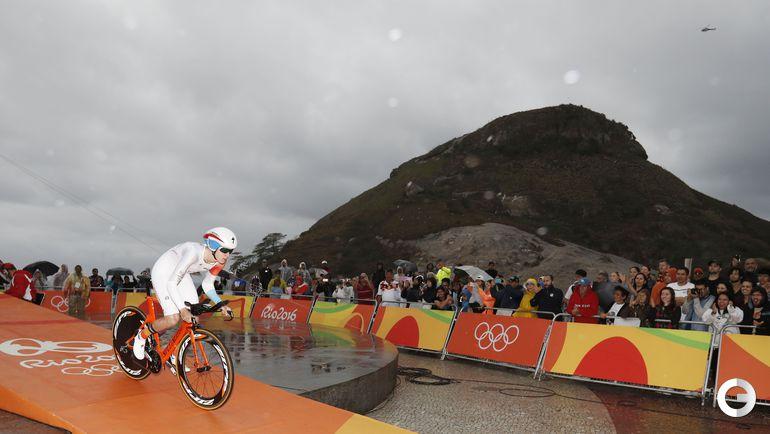 Сегодня. Рио-де-Жанейро. Велошоссе. Женщины. Гонка с раздельным стартом. Фото AFP