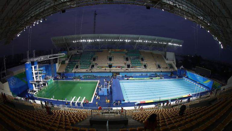 Вид на водный стадион олимпийского Рио. Фото AFP