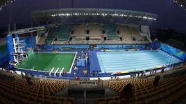 Вид на водный стадион олимпийского Рио.