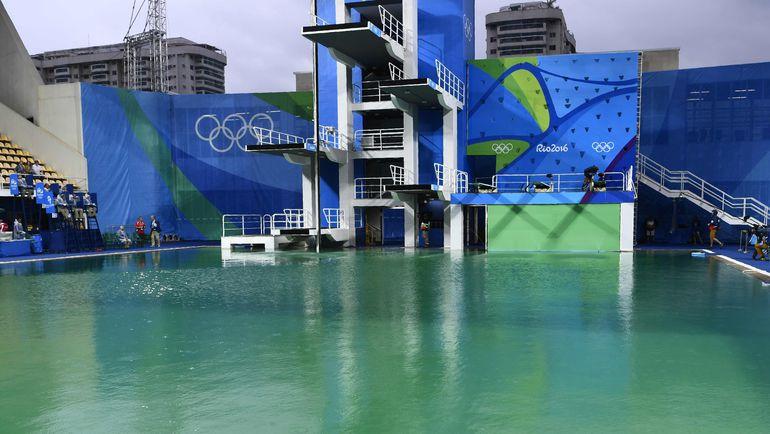 Вид на бассейн для прыжков в воду. Фото AFP