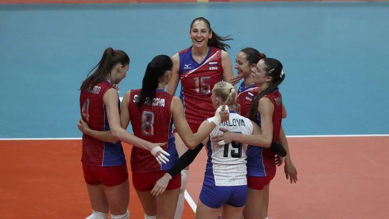 Сегодня. Рио-де-Жанейро. Россия - Япония - 3:0. Наши волейболистки празднуют победу. Фото REUTERS