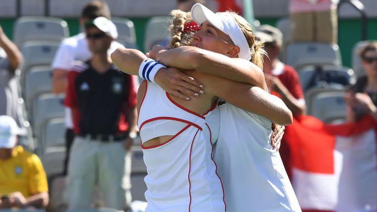 Для России это единственная теннисная медаль в Рио. Фото AFP