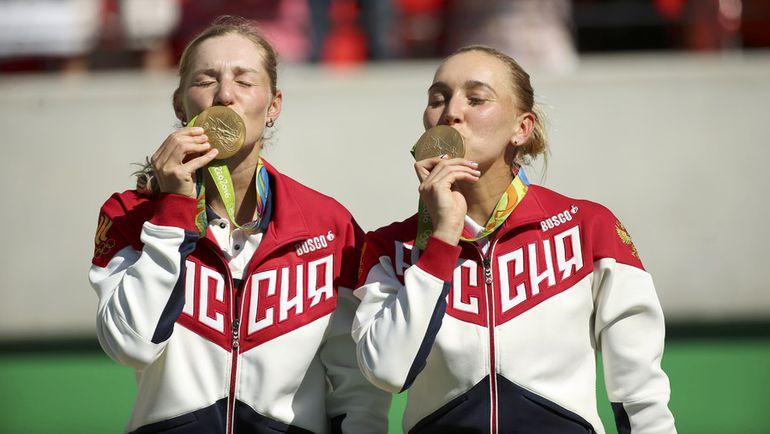 Сегодня. Рио-де-Жанейро. Екатерина МАКАРОВА и Елена ВЕСНИНА - золото!